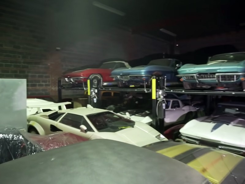 300 car collection corvettes