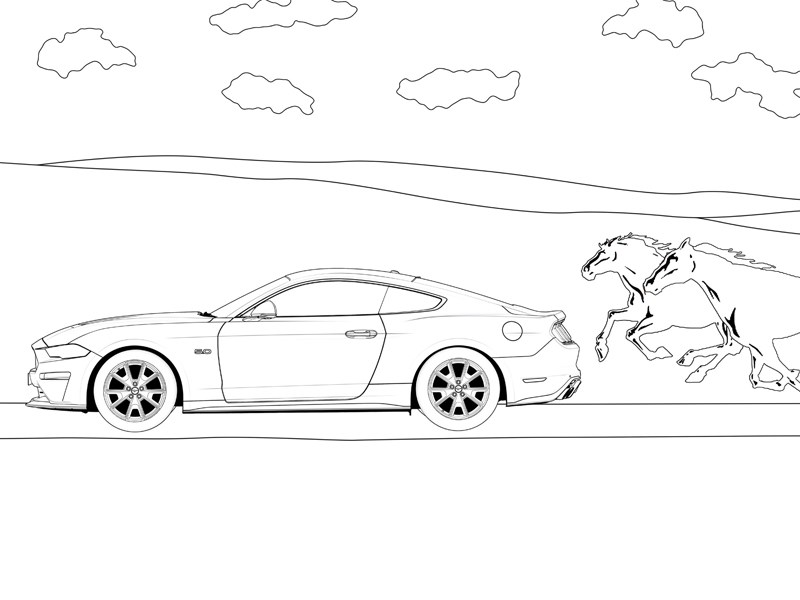 Ford colouring pages cover