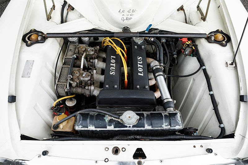 lotus cortina engine bay