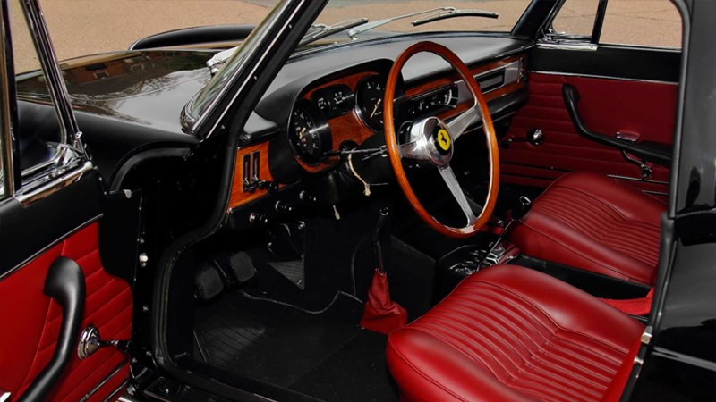 Lettermans ferrari interior