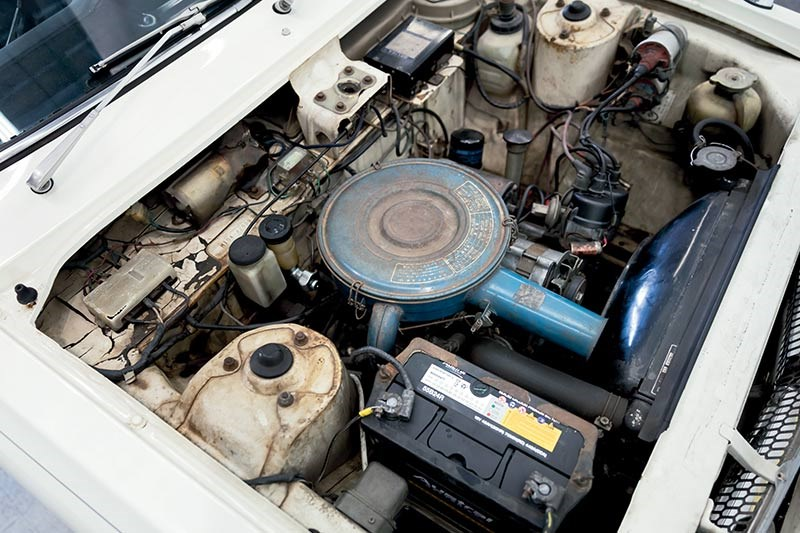 mazda familia engine bay