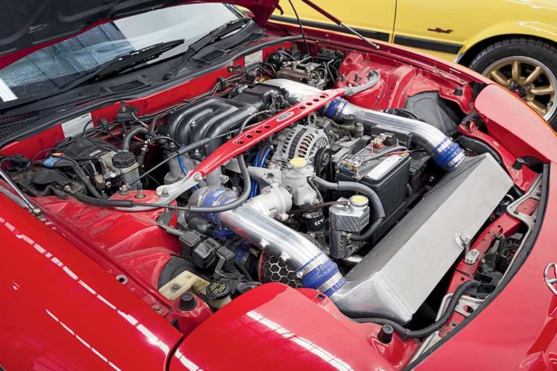 mazda rx7 engine bay