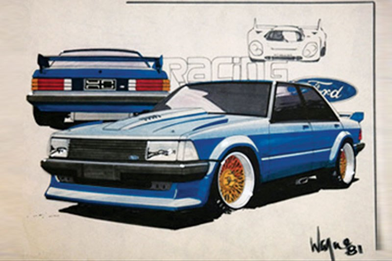 ford xd falcon phase 5 sketch