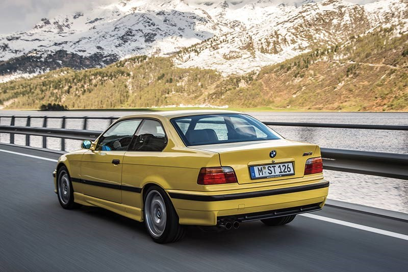 bmw e36 m3 driving rear