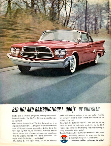 1960 chrysler 300/F ad