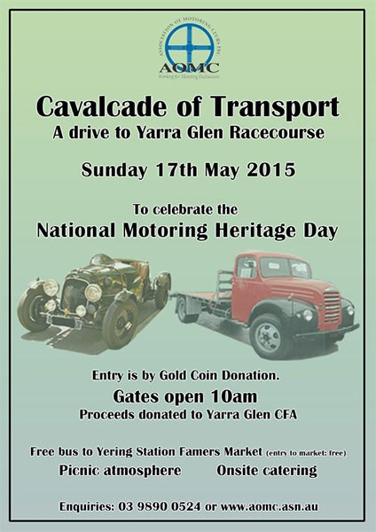 AOMC Cavalcade of Transport