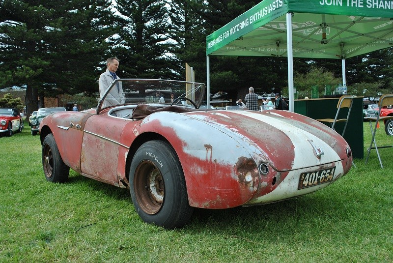 Austin Healey 100 BN1 Rocket ex drag car Mark Scott 04