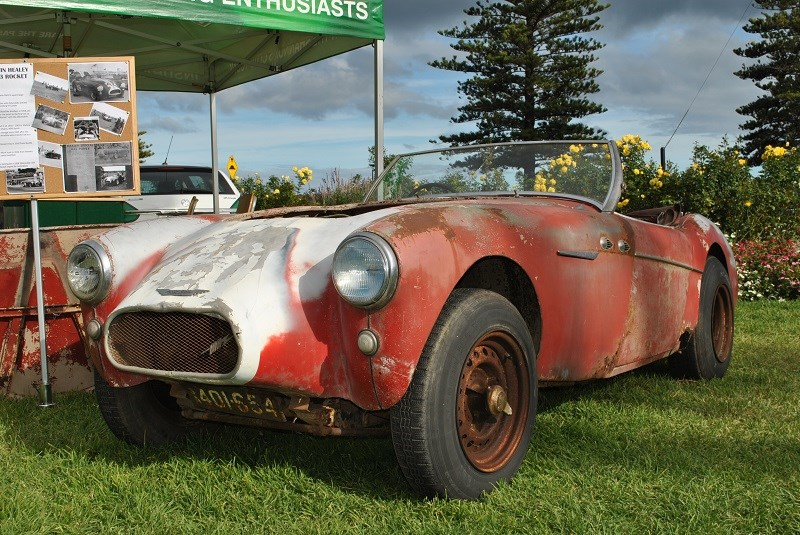 Austin Healey 100 BN1 Rocket ex drag car Mark Scott 11