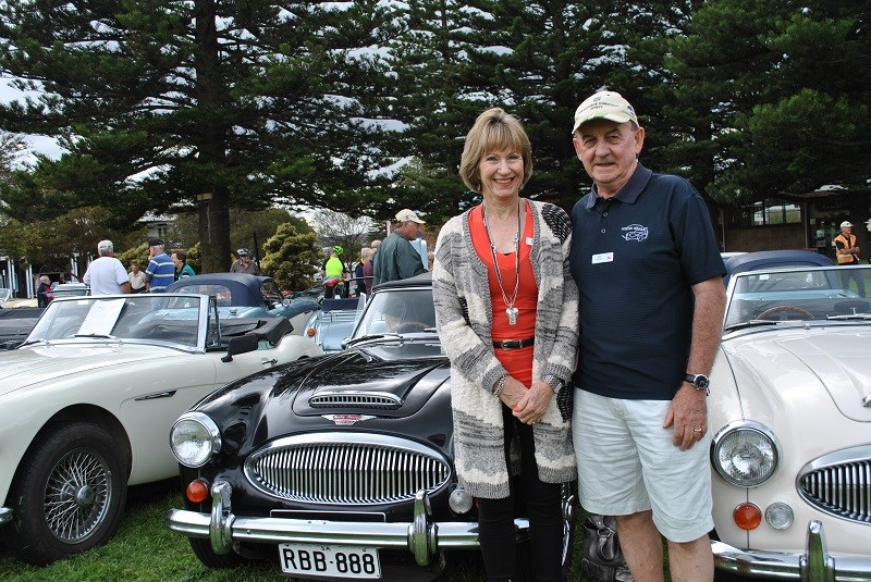 Austin Healey 3000 Mk III BJ8 Rod and Helen Bishop 04 with Rod and Helen