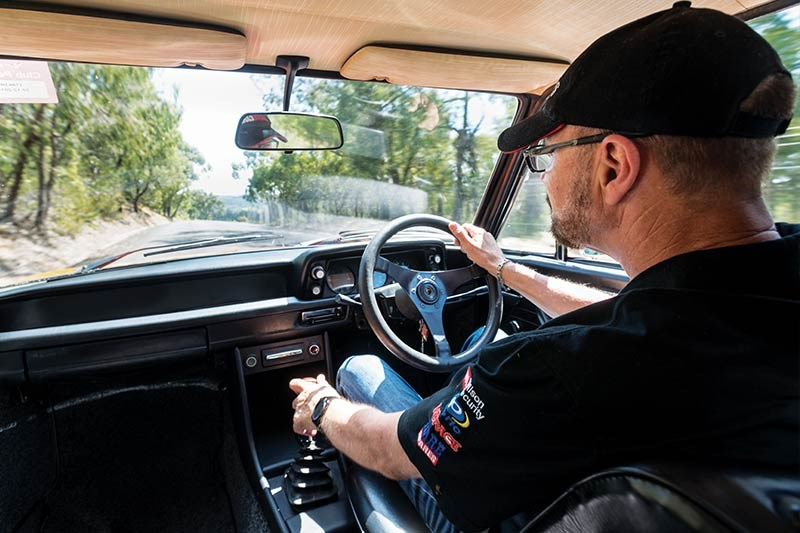 BMW 2002 john bowe driving