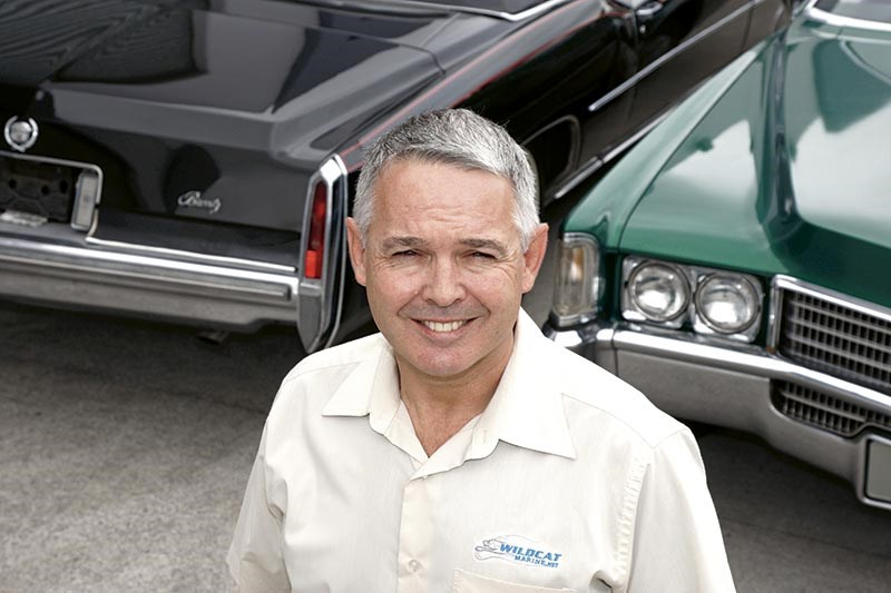 Guy Obren with his Cadillac Eldorado