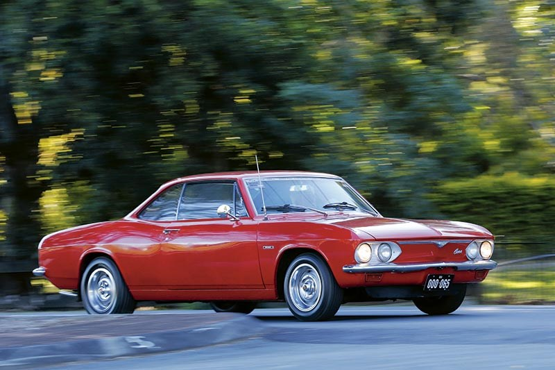 Chevrolet Corvair driving