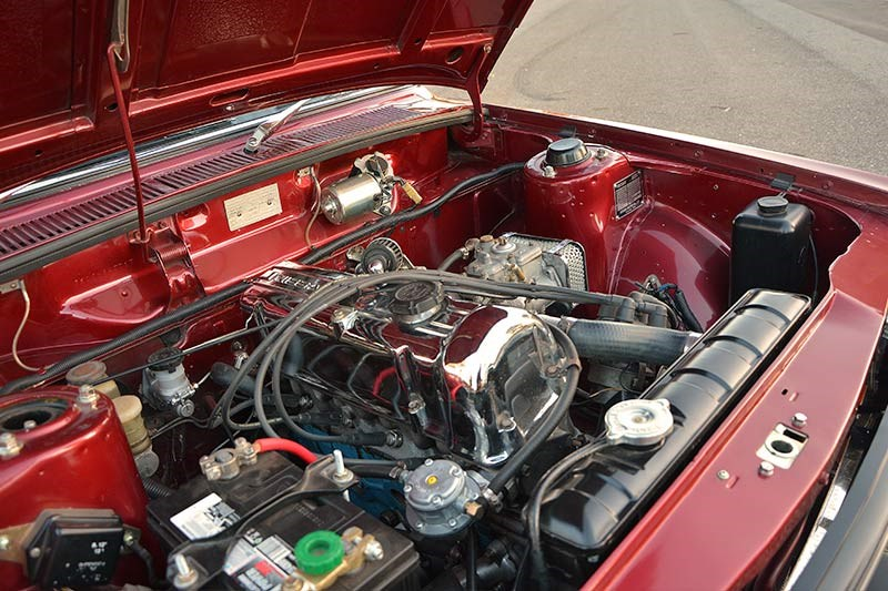 Datsun 1600 wagon engine bay