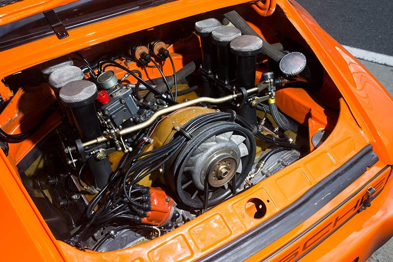 RSR IROC flat-six ran a 10.5:1 compression ratio and redlined at 8000rpm