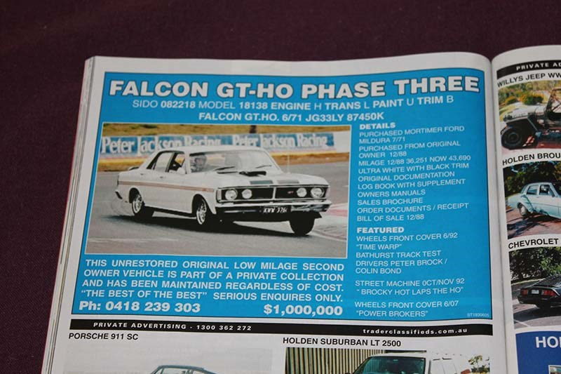 FORD FALCON GTHO PHASE 3 10