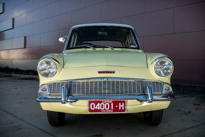 Ford Anglia resto front view
