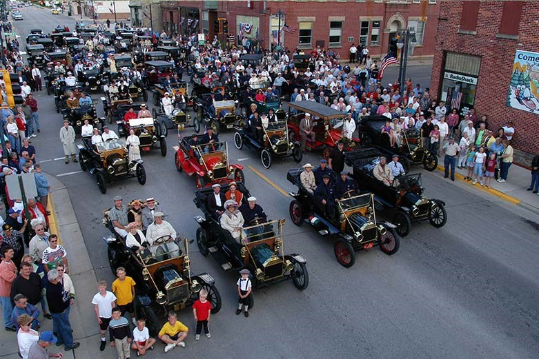 Ford Model T convention group