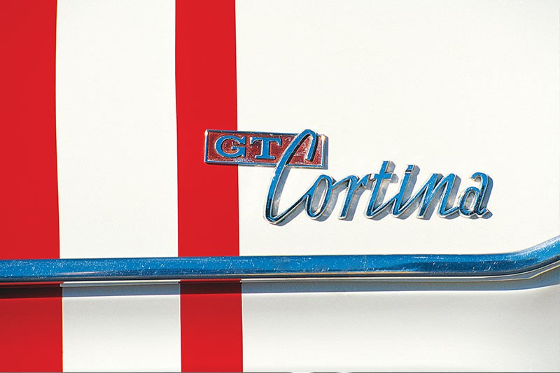 GT Cortina badge
