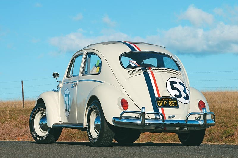 Herbie isn't registered because the authorities wouldn't allow it with film mods like holes in the floor...