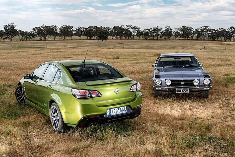 The first and last of the Holden SS line: HQ & 2016 SS-V