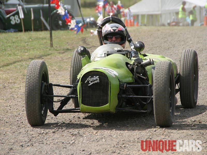 Trevor Cole in his 1937 Austin Seven