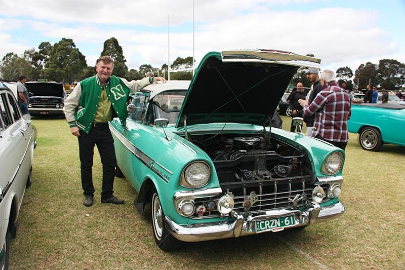 Jeff McAlpine with his 1961 EK Special sedan