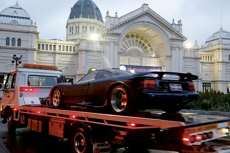 Arriving at the Royal Exhibition Building for to setup for Motorclassica