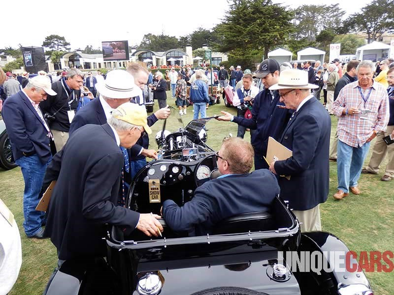 Judging at Pebble Beach is a very serious business