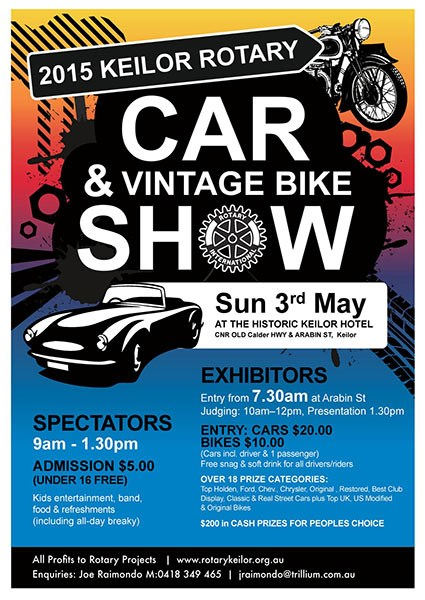 2015 Keilor Rotary Car & Vintage Bike Show
