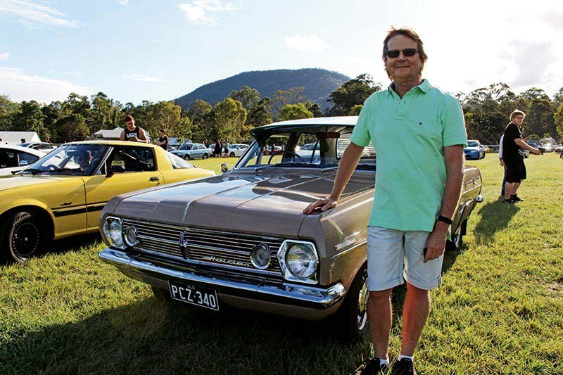 Keith Bostock with his Holden HR Special