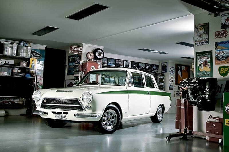 Lotus Cortina garage