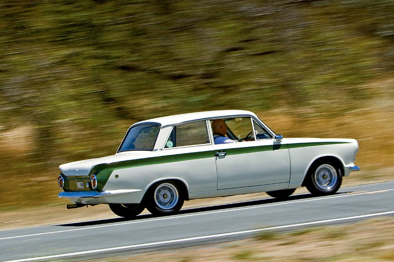 Lotus Cortina onroad