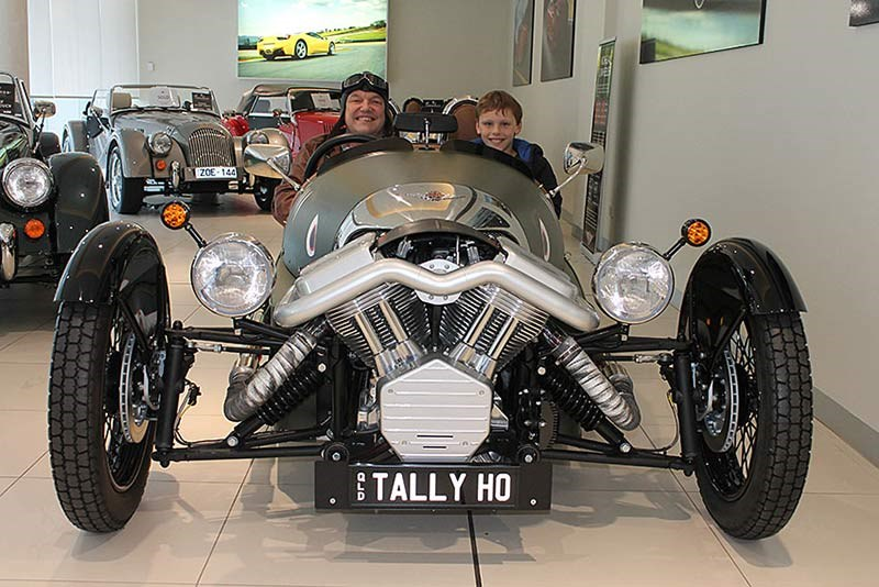 Rod and Archie Allen in the 3-Wheeler Morgan