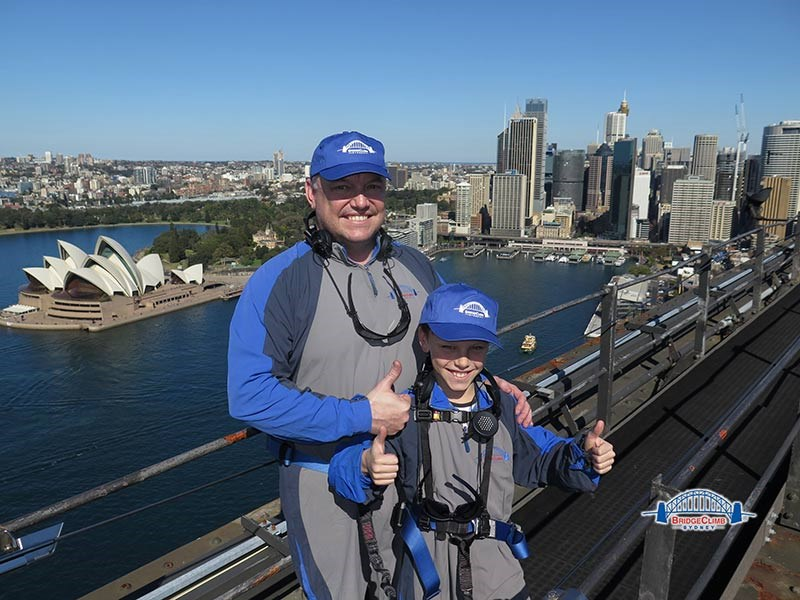 Rod & Archie Allen on Sydney Harbour Bridge