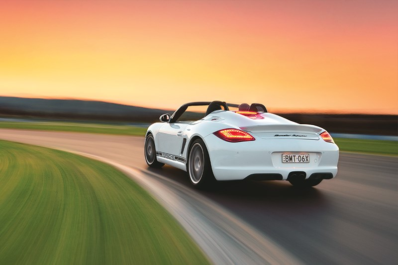 Porsche Spyder is the lightest Porsche available, and one of the best to drive