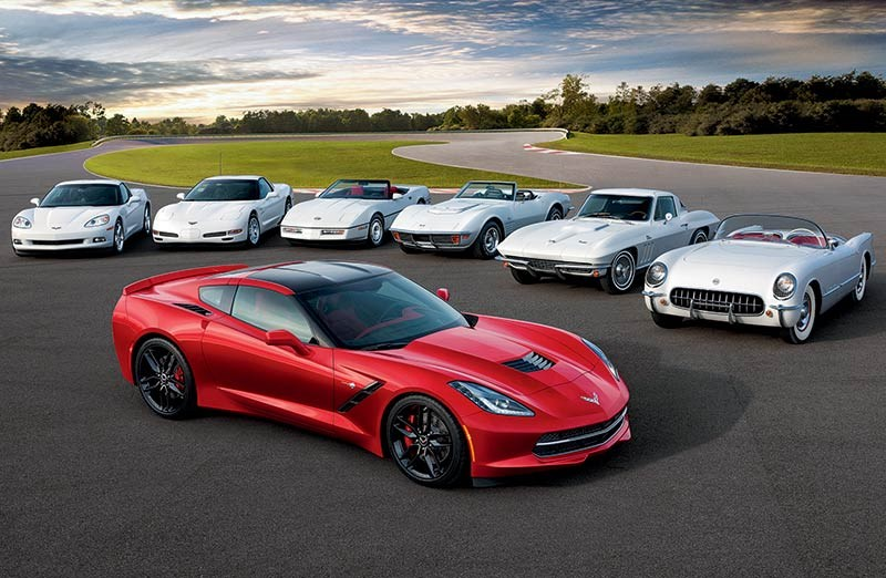 Seven Generations of Corvette
