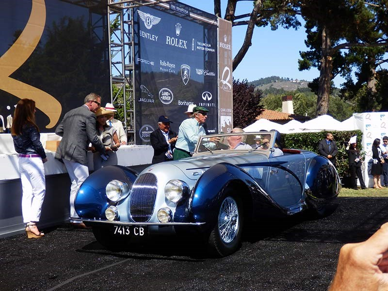 Tom and Gwen Price with their 1938 Talbot Lago T150C SS