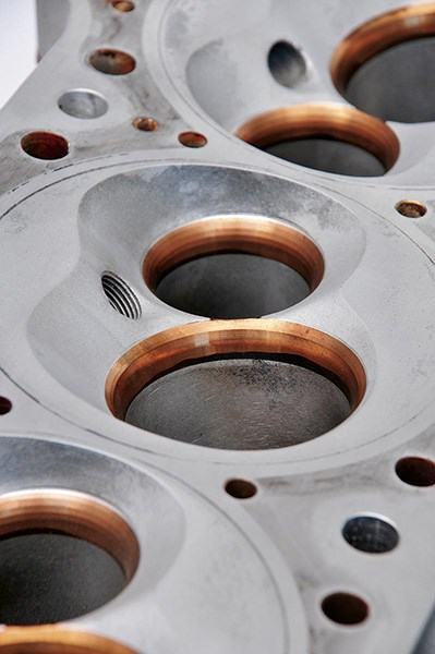 The valve seat angles most often used are 30, 45 and 70 degrees, measured in relation to the chamber face of the head