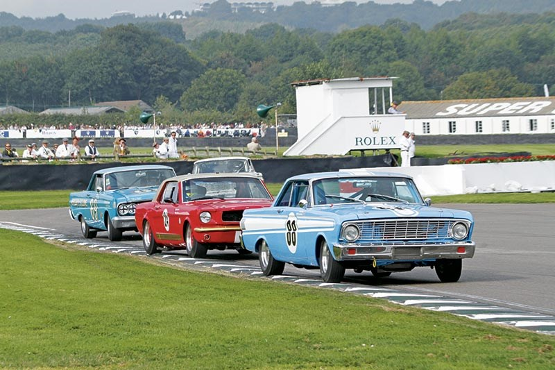 The Hall/Minshaw 1964 Falcon Sprint heads the Shelby Cup field