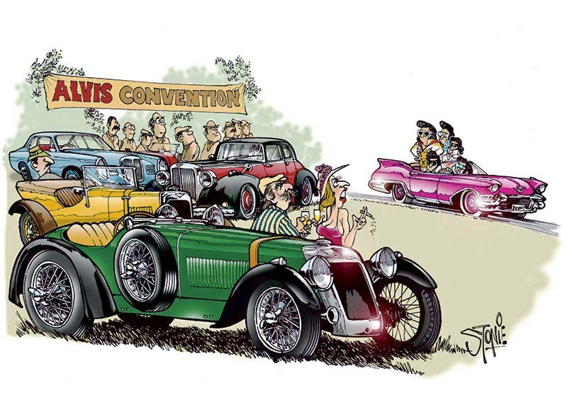 Alvis Elvis cartoon