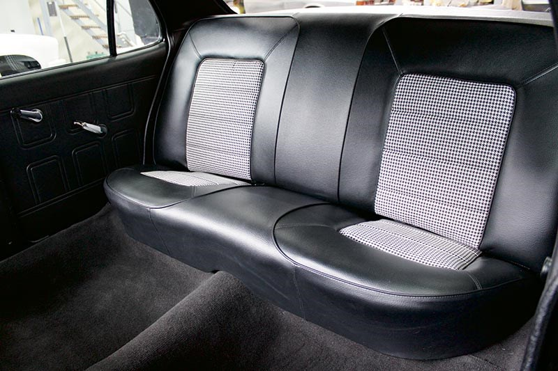 Custom-built seats thanks to Ashley Eames at the Bendigo-based A&H Trim