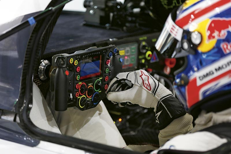 Mark Webber's wheel from the Porsche 919 Hybrid