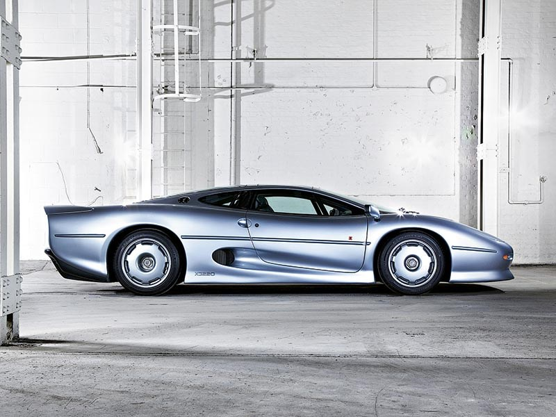 Biggest loser? The Jaguar XJ220 was the victim of its own pre-launch promises and the subsequent genius of the mighty McLaren F1
