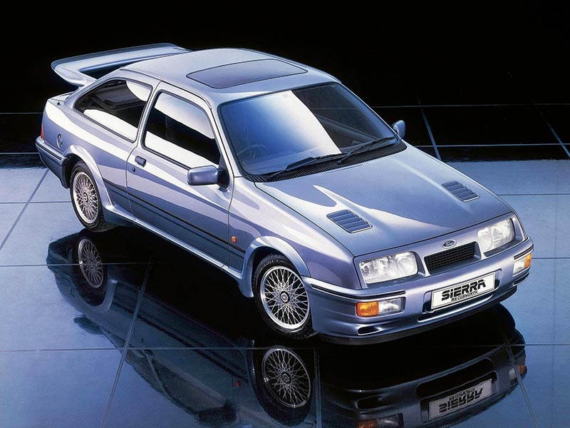 1986 Ford Sierra. Sierra Cosworth forged its legend through competition. RS500 version was a magnet for automotive speculators right from the word go