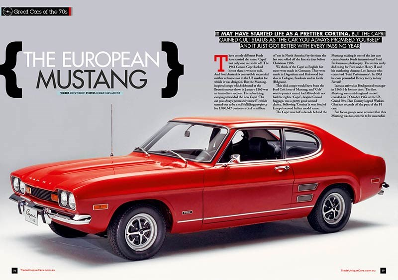 UC 375 - Great cars of the 70s, Ford Capri