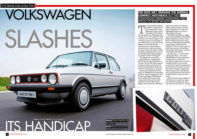 Great cars of the 70s - VW Golf LS
