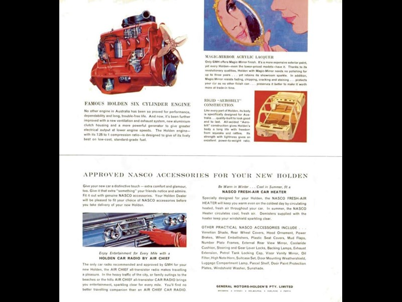 UNC 376 ej holden red grey motor brochure