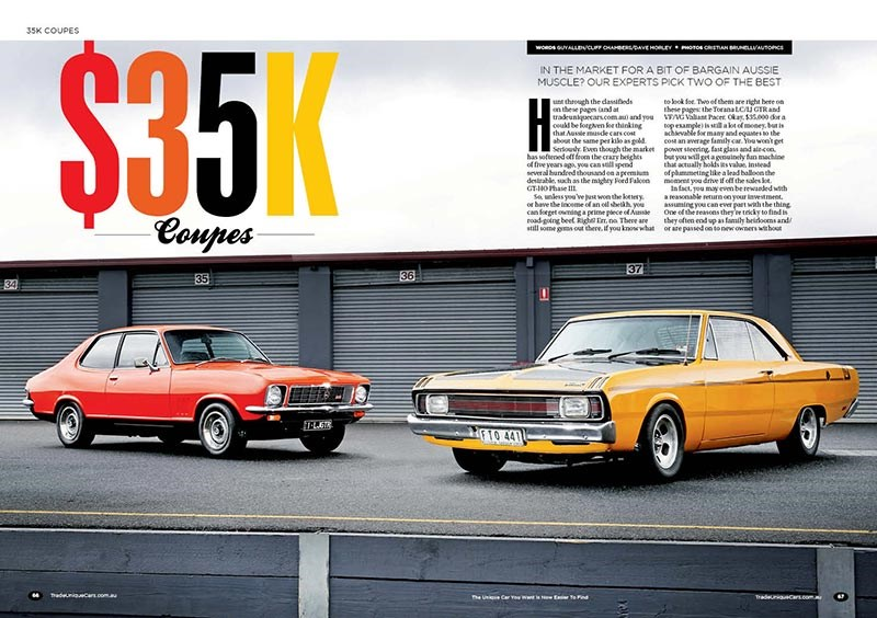 $35k Coupes: VG Valiant Pacer vs GTR Torana