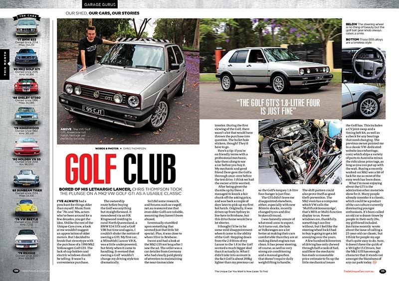 Our youngest contributor's MK2 Golf GTi that's older than he is