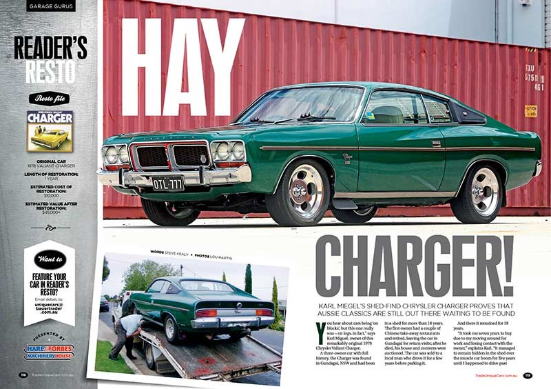 A barn find Charger is treated to some overdue TLC